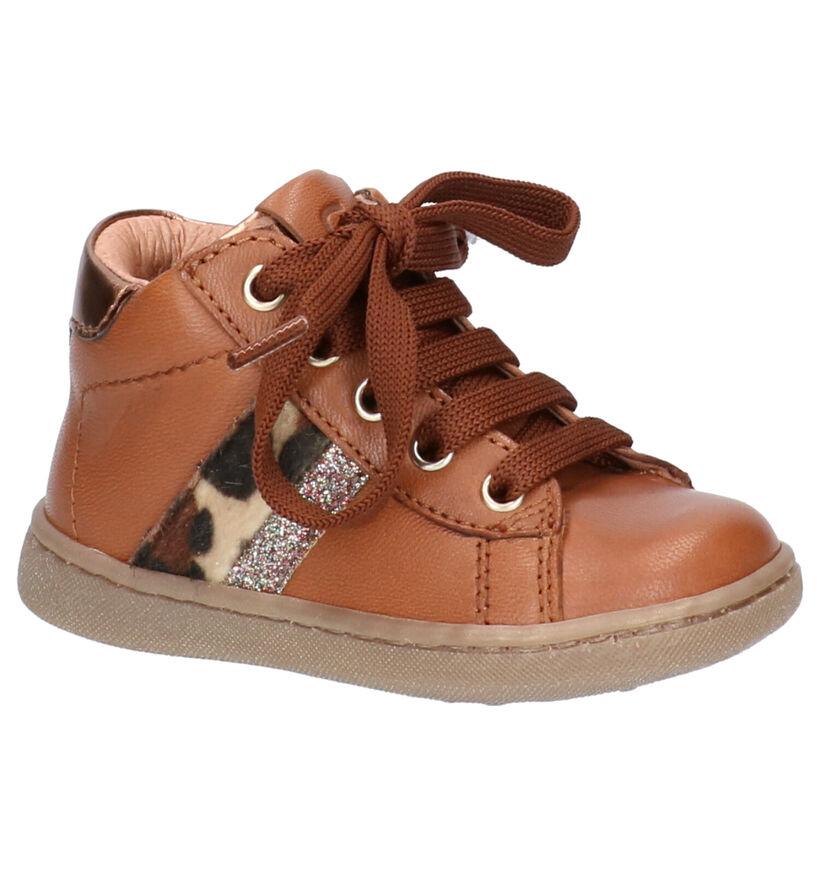 FR by Romagnoli Chaussures pour bébé  en Cognac en cuir (255616)