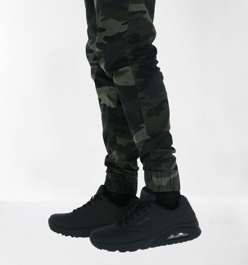Skechers Uno Stand On Air Zwarte Sneakers in kunstleer (279362)