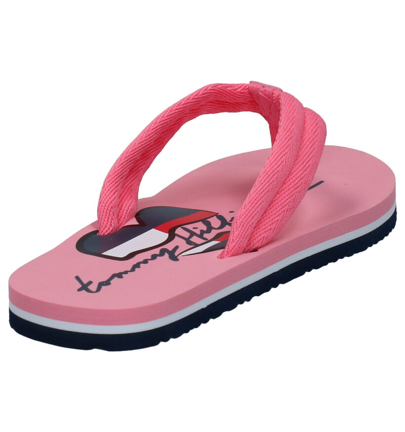 Tommy Hilfiger Roze Teenslippers in stof (266548)