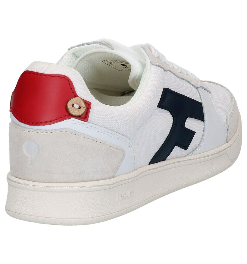 Faguo Hazel Witte Sneakers in leer (274844)