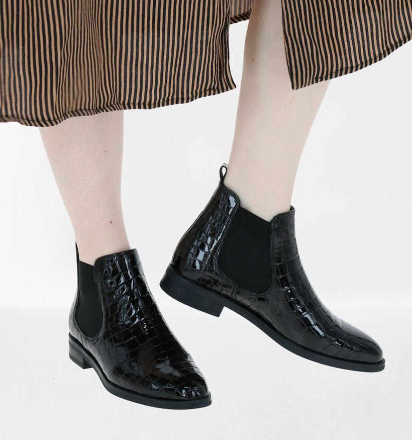 Hampton Bays Chelsea Boots en Noir en cuir verni (277835)