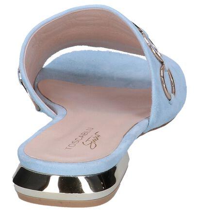 Pastelblauwe Muiltjes Tosca Blu in daim (246045)