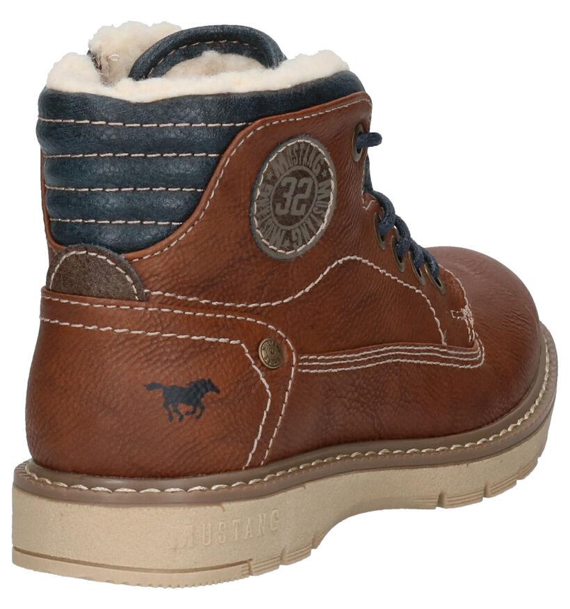 Mustang Blauwe Boots in kunstleer (254767)