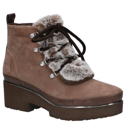 Tamaris Boots Taupe in daim (257162)