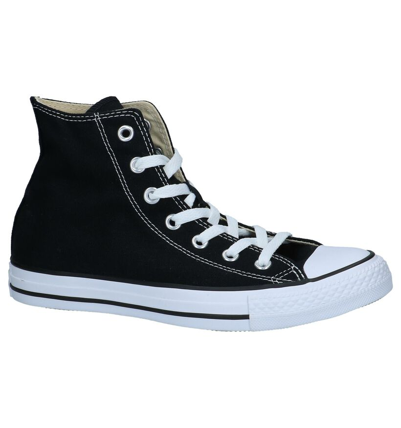 Converse All Star High Sneakers Zwart in stof (266499)