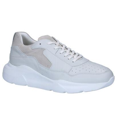 Jack & Jones Munki Witte Sneakers in leer (256069)