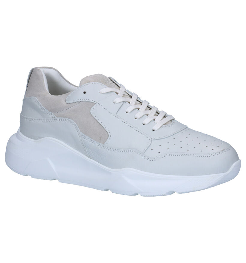 Jack & Jones Munki Baskets en Blanc en cuir (256069)