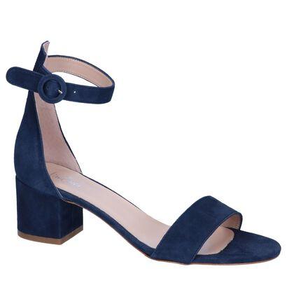 Blauwe Sandalen Via Limone, Blauw, pdp