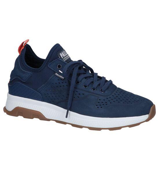 Donkerblauwe Slip-on Sneakers Palladium Axeon Native