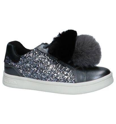 Geox Grijze Metallic Sneakers met Pompons in imitatieleer (223140)