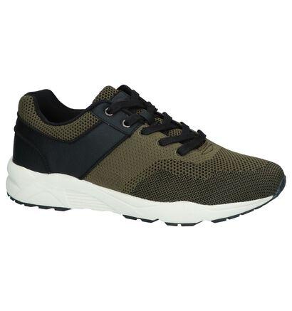 Zwarte Lage Sneakers Bullboxer, Groen, pdp