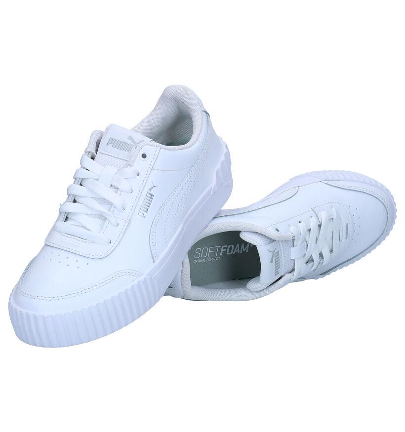 Puma Carina Lift Witte Sneakers in kunstleer (293506)