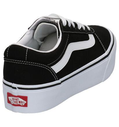 Vans Platform Zwarte Sneakers in stof (264187)