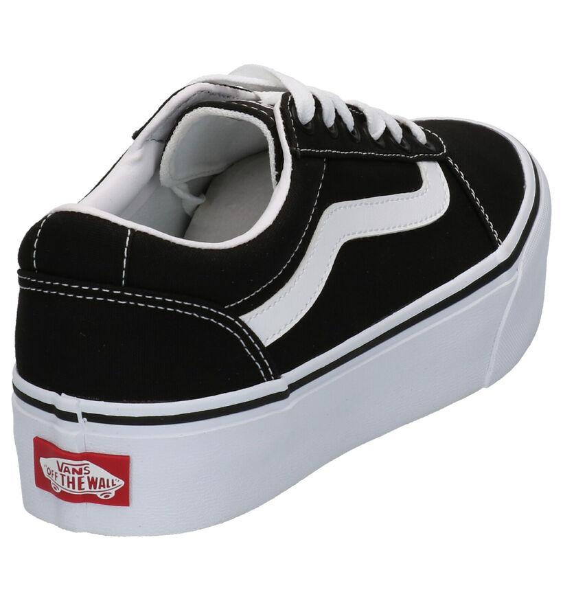 Vans Ward Platform Zwarte Sneakers in stof (277594)