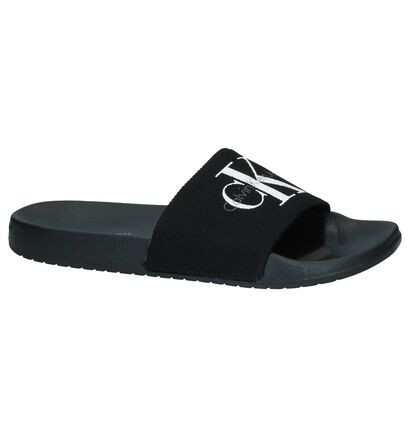 Zwarte Slippers Calvin Klein Viggo , Zwart, pdp