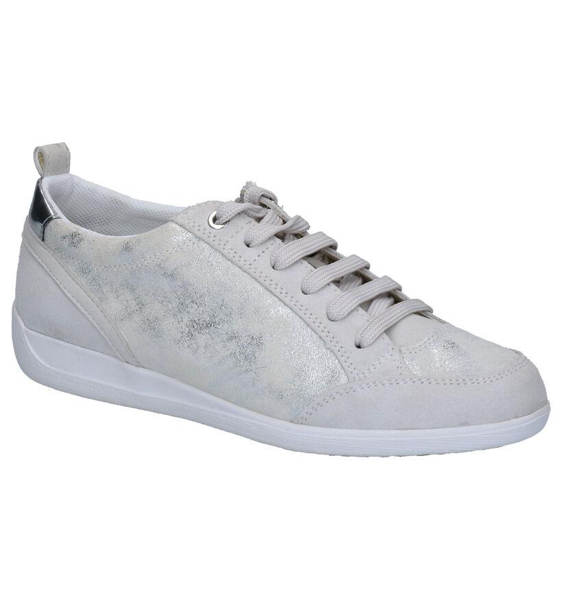 Geox Chaussures à lacets en Argent en daim (266832)