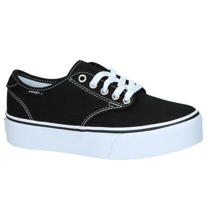 Zwarte Sneakers Vans Camden Platform in stof (239977)