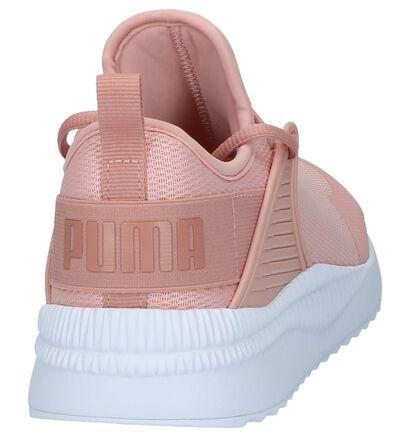 Puma Baskets basses en Rose clair en textile (209963)