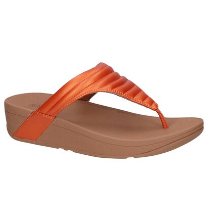 Zwarte Slippers FitFlop Lottie Padded , Oranje, pdp