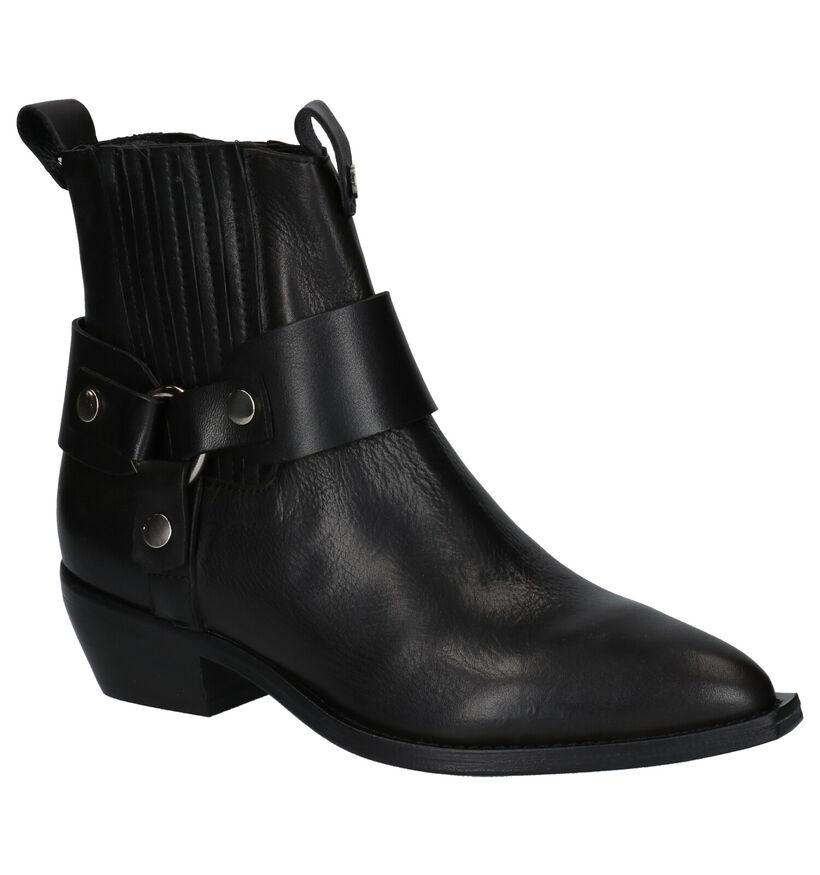 Curiosité Zwarte Western Boots in leer (261188)