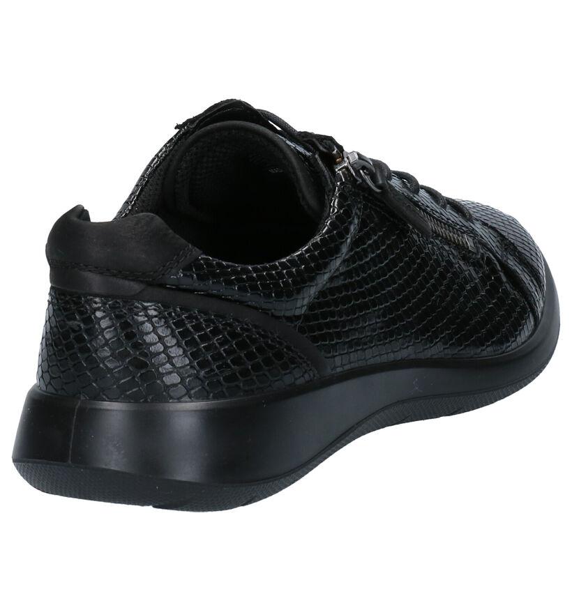 ECCO Soft 5 Zwarte Veterschoenen in leer (257786)