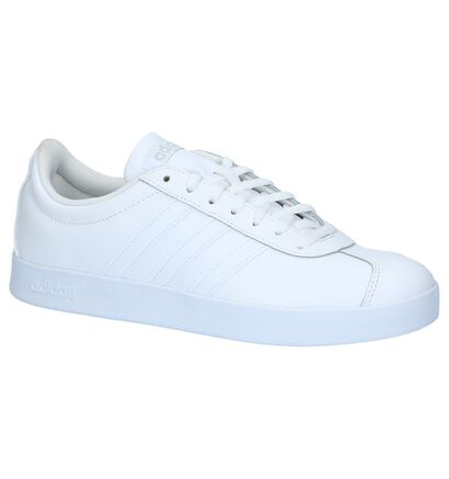 adidas VL Court 2.0 Witte Lage Sneakers , Wit, pdp