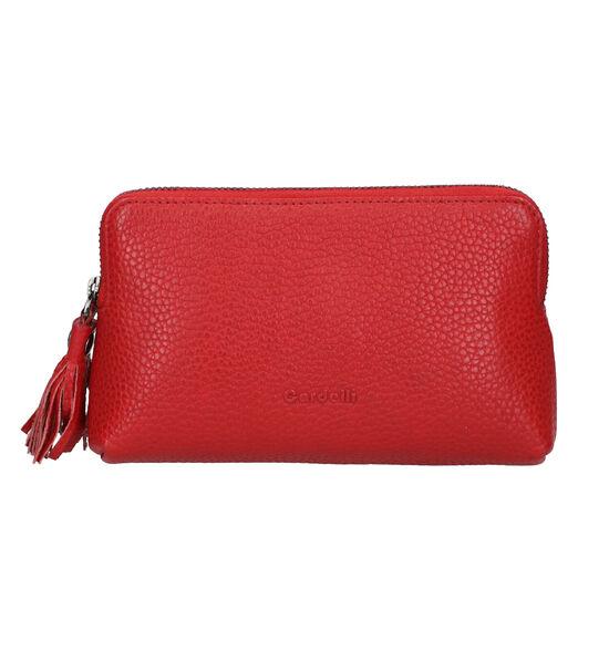Euro-Leather Trousse de Maquillage en Rouge