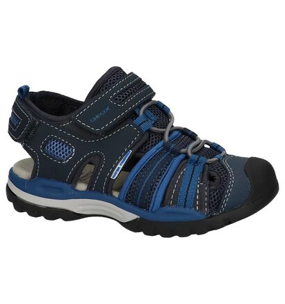 Geox Donker Blauwe Sportieve Sandalen in kunstleer (213167)