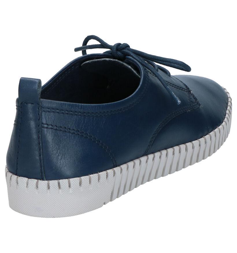 Marco Tozzi Chaussures à lacets en Bleu foncé en cuir (270715)