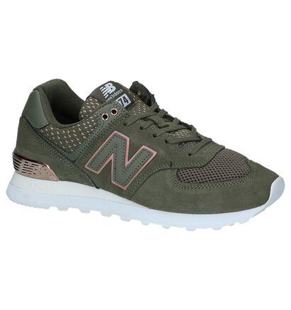 Donkerblauwe Sneakers New Balance WL 574, Groen, pdp