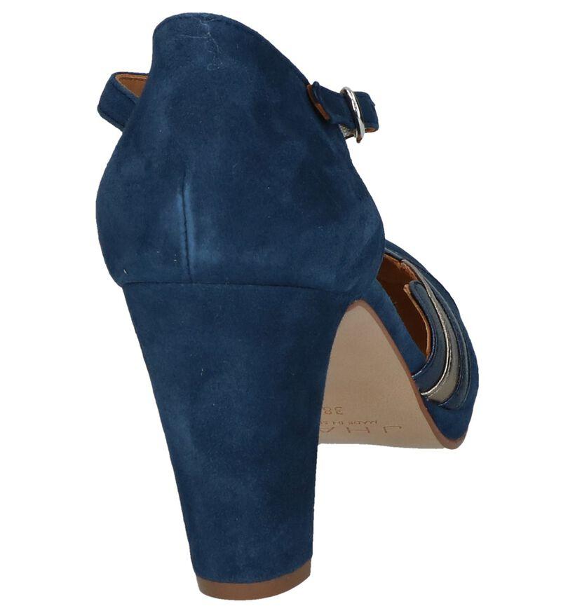 Donkerblauwe Pumps JHay in daim (247959)