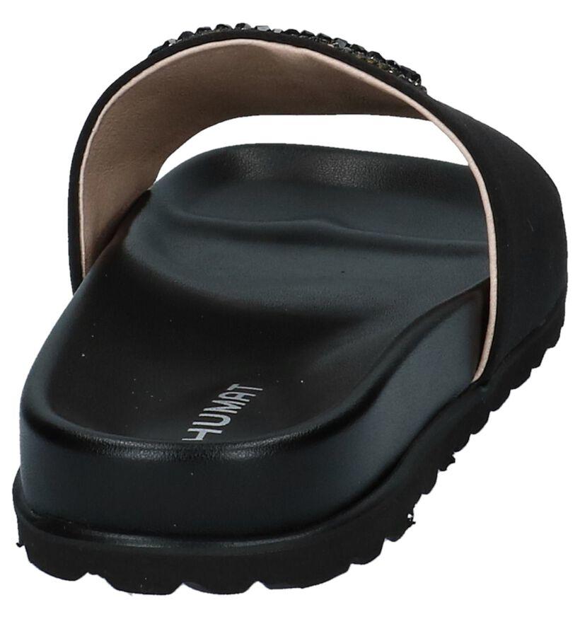 Humat Claquettes de piscine en Noir en textile (221377)