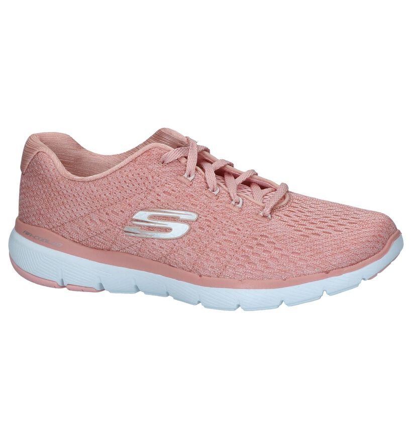 Roze Runners Skechers Flex Appeal 3.0 in stof (240439)
