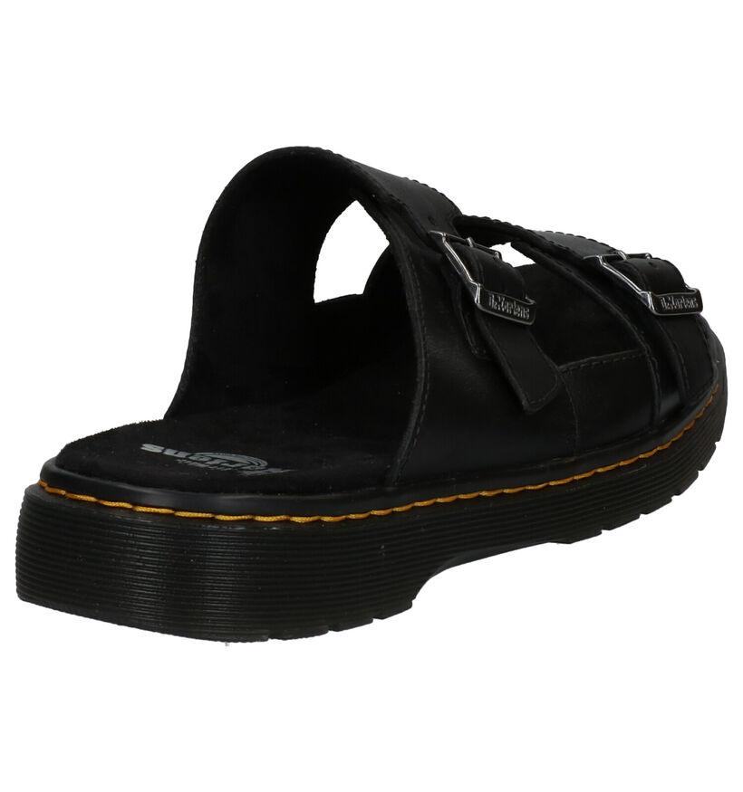 Dr. Martens Nikolai Nu-pieds en Noir en cuir (265575)