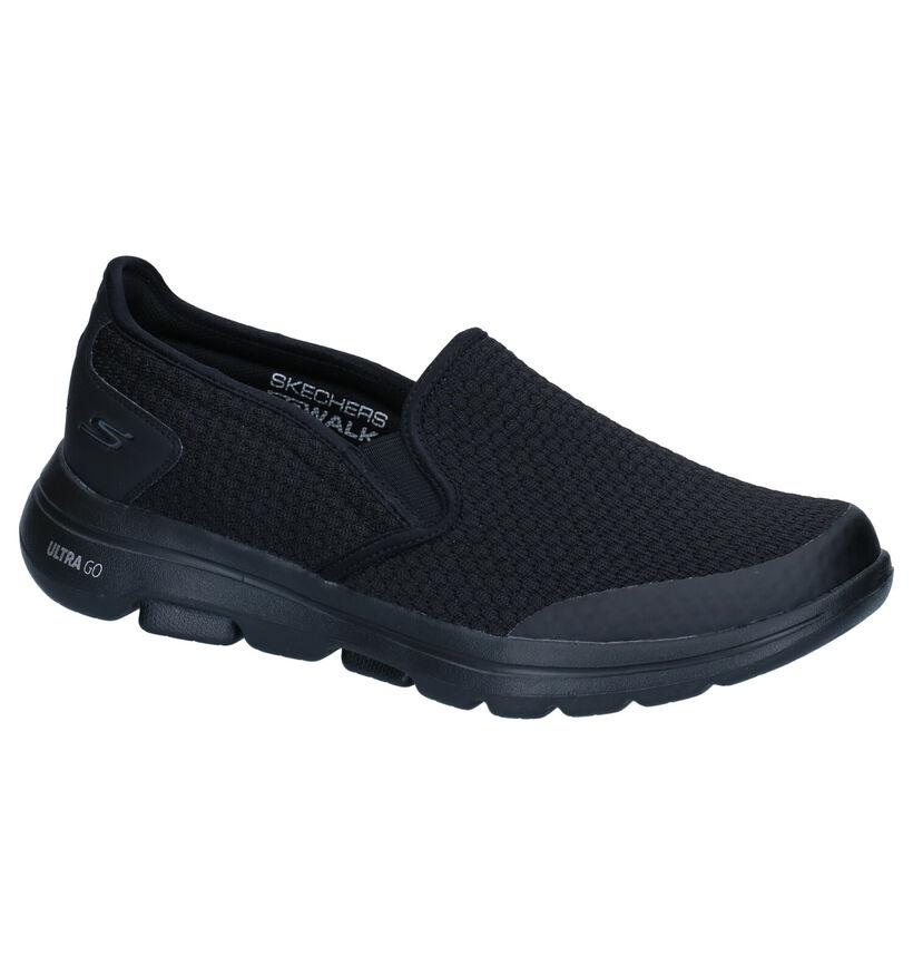 Skechers Go Walk Baskets slip-on en Noir en simili cuir (277906)