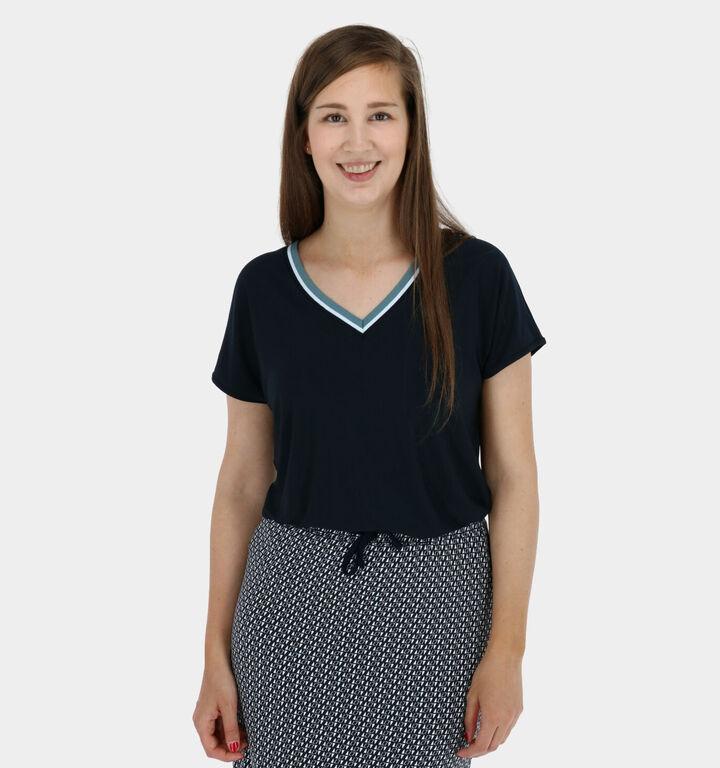 Zoso Vanessa T-shirt en Bleu manches courtes