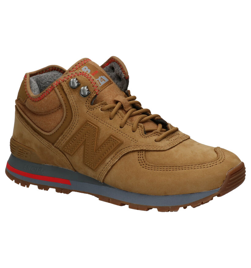 New Balance 574 Bruine Sneakers in nubuck (261537)