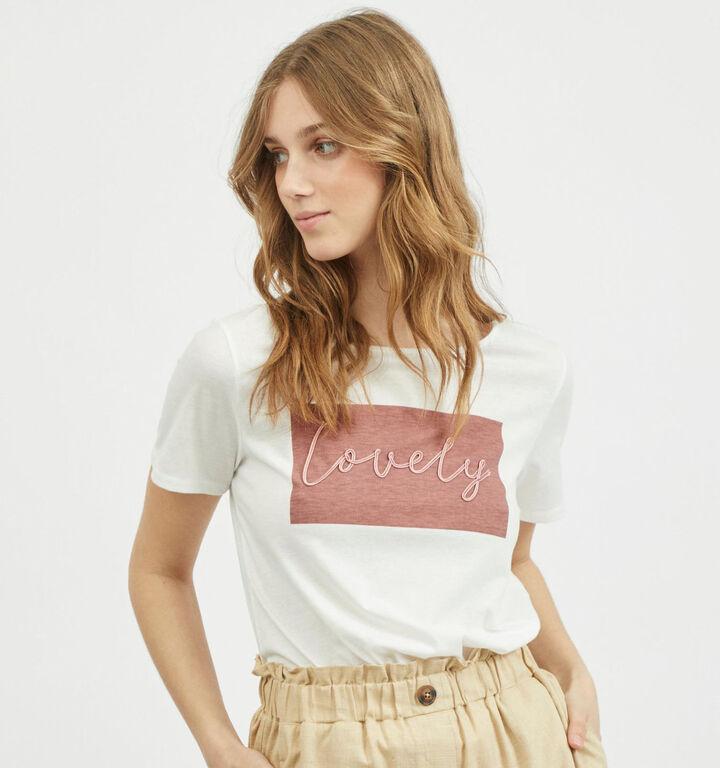 Vila Linnea T-Shirt en Blanc