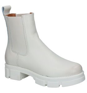 Shoecolate Ecru Chelsea Boots in stof (295596)