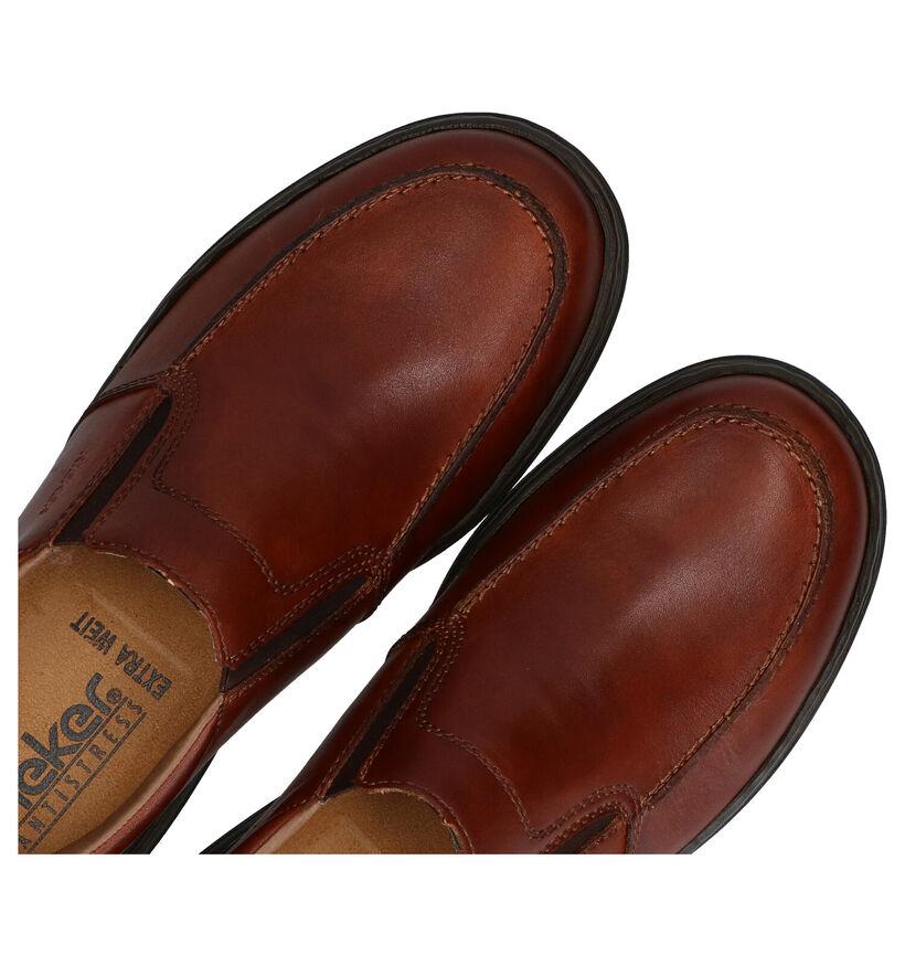 Rieker Chaussures slip-on en Cognac en cuir (281849)