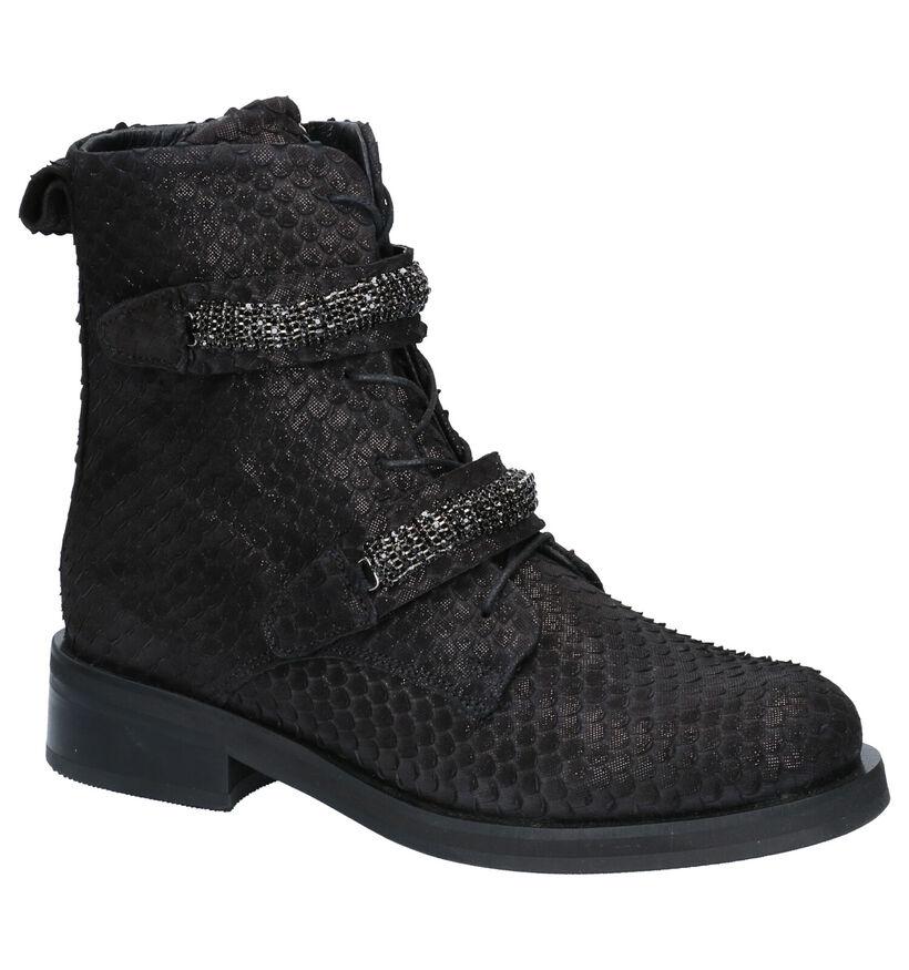Baboos Zwarte Boots in nubuck (263598)