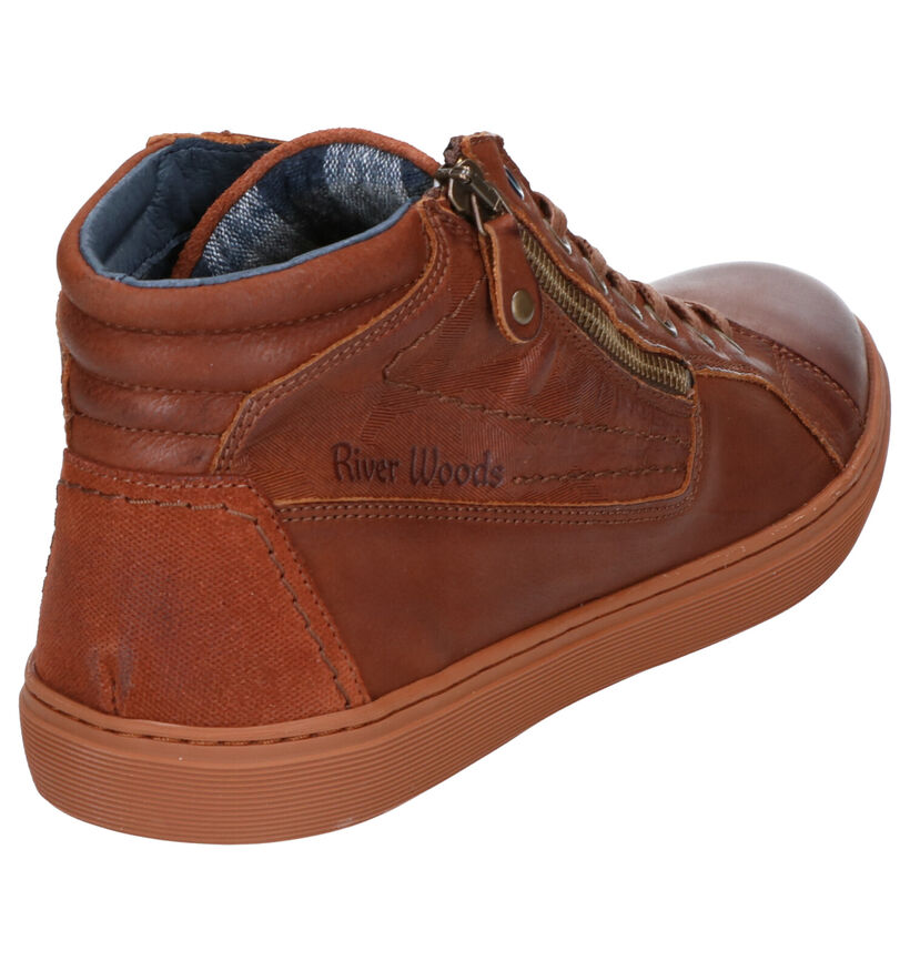 River Woods Rabbi Chaussures hautes en Cognac en cuir (259908)