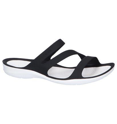 Zwarte Slippers Crocs Swiftwater in kunststof (244744)