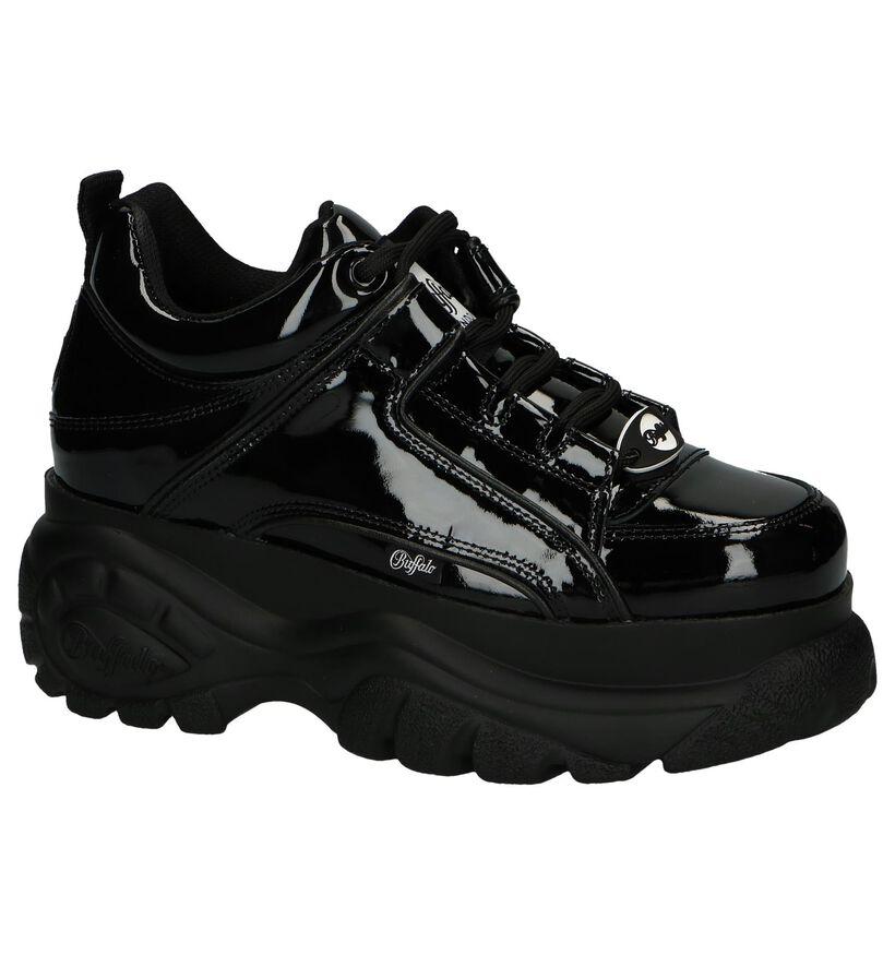 Zwarte Sneakers Buffalo London Classic Kick in leer (240564)