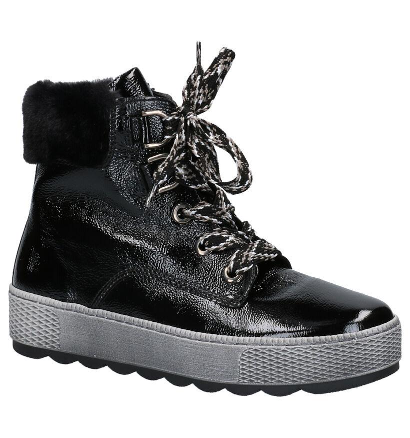 Gabor Zwarte Boots in kunstleer (260139)