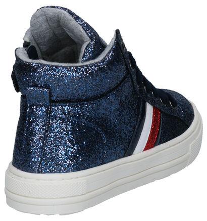 Tommy Hilfiger Blauwe Sneakers in stof (256935)