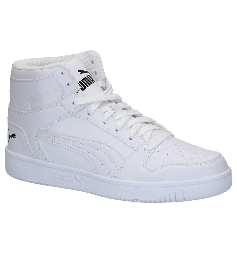 Puma Rebound Layup Witte Sneakers in kunstleer (252604)