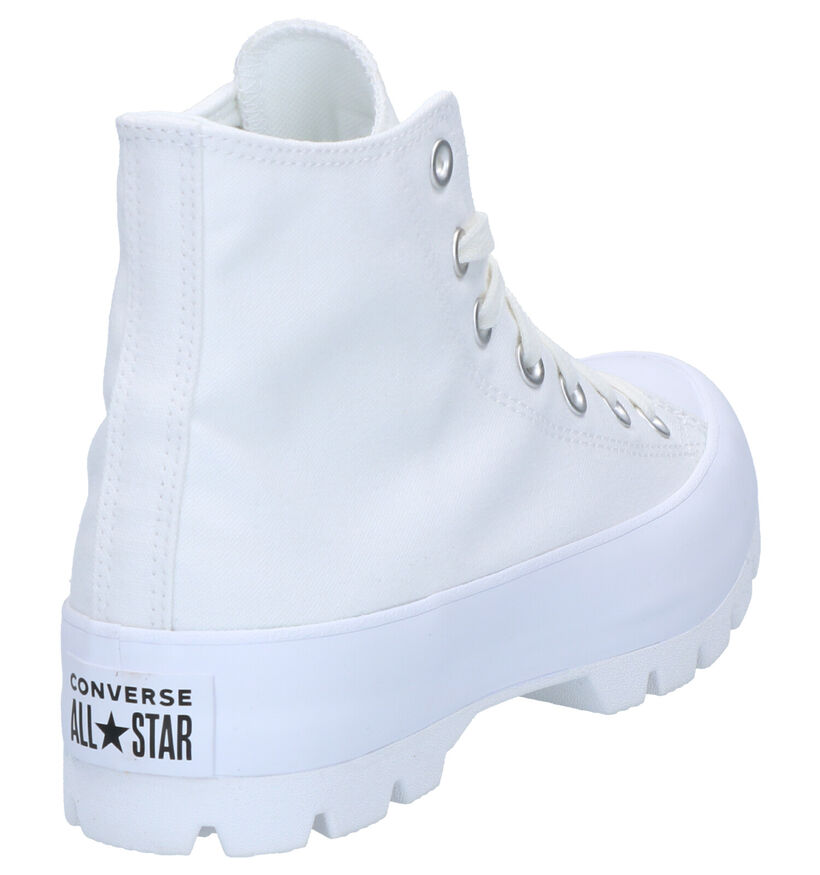 Chuck Taylor All Star Lift Baskets hautes en Blanc en textile (266481)