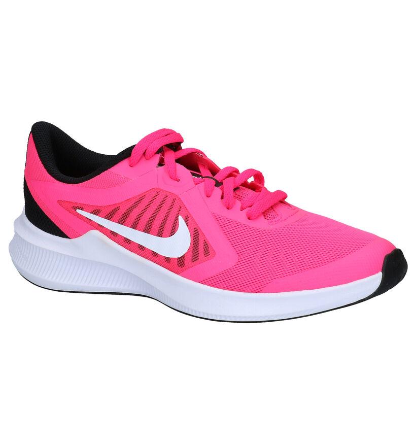 Nike Downshifter 10 GS Roze Sneakers in kunststof (277547)