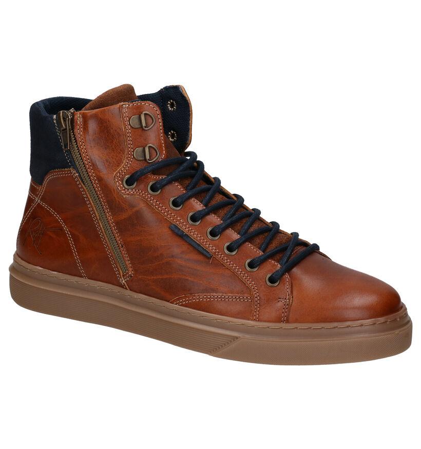 Bullboxer Chaussures hautes en Cognac en cuir (279115)